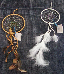 Photo two dreamcatchers