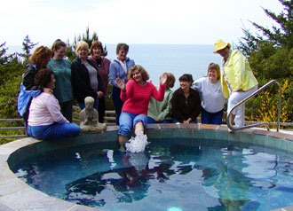Photo Women's group by hot tub