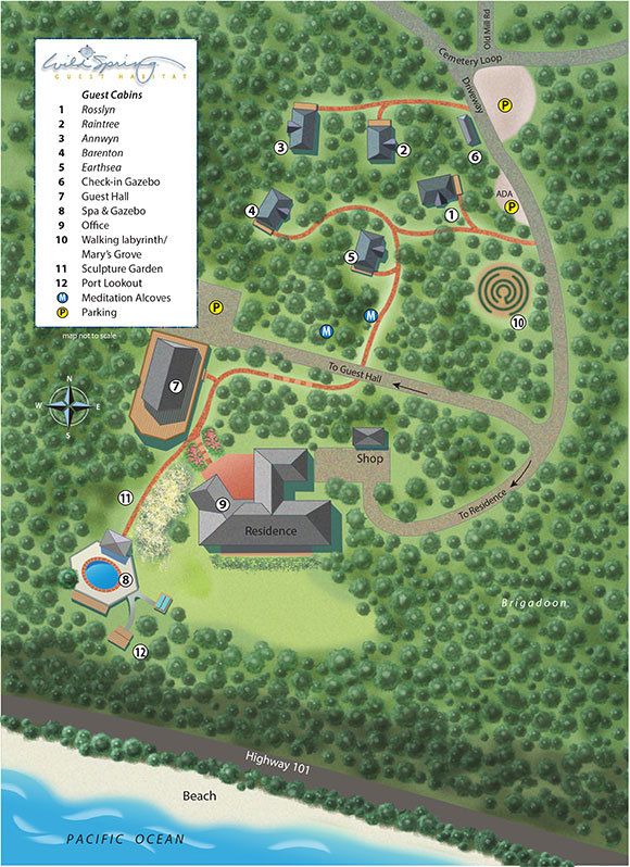 Photo overhead map of WildSpring layout