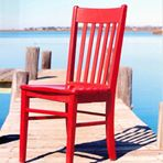 Photo of the Red Chair at Lake Garrison dock
